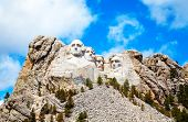 image of mount rushmore national memorial  - Mount Rushmore monument in South Dakota in the morning - JPG