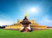 foto of buddhist  - Laos travel landmark - JPG