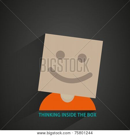 man with box head