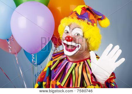 Clown Waves Hello