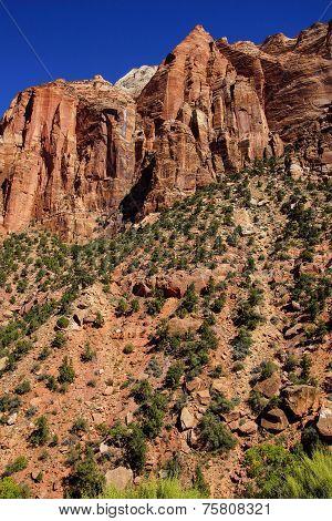 Steep Mountain Cliff