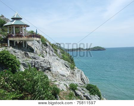 small gazebo on a cliff