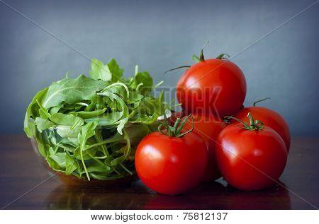 Tomatoes And Rucola Salad