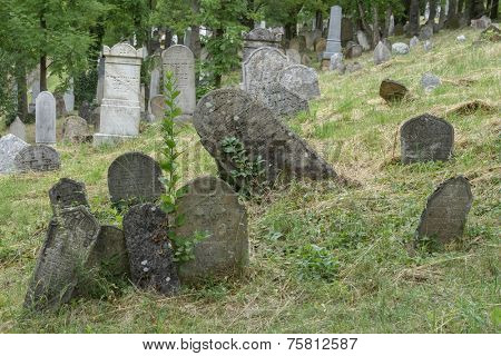Old Jewish Cemetery , Europe,Czech republic, Mikulov