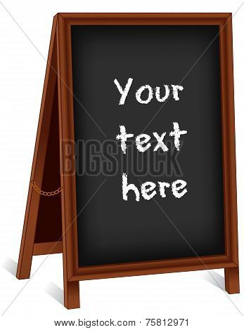 Chalk Board Wood Easel Sidewalk Sign