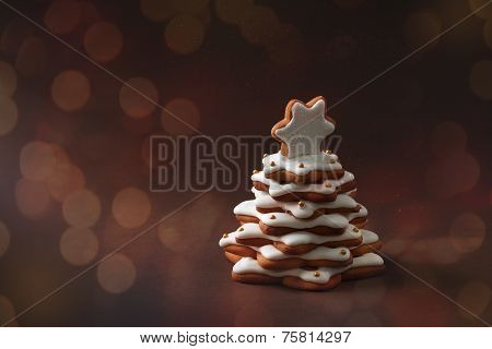 Christmas Spice Cake In The Form Of Fir