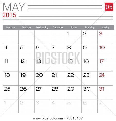 May 2015 Calendar