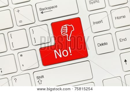 White Conceptual Keyboard - No (red Key)