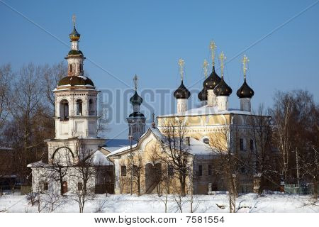 Old Orthodox Church In Winter, Vologda, Russia
