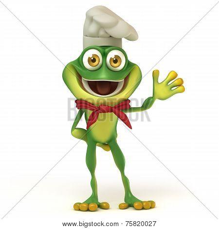 Chef frog say hello