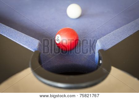 Playing Pool On Pool Table