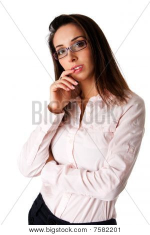 Thinking Business Woman