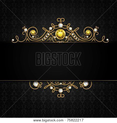 Jewellery black background