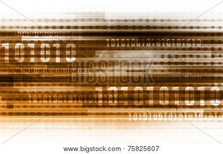 Binary Code and Data Background Online as Concept