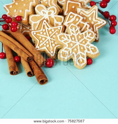 Christmas Gingerbread Cookies And Cinnamon