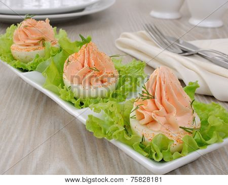 Eggs Stuffed With Salmon Pate