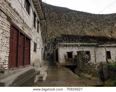 Old White Himalayan Town Marpha