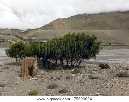 Primitive Rural Toilet In Himalayas