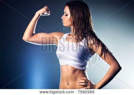Young Strong Sexy Woman
