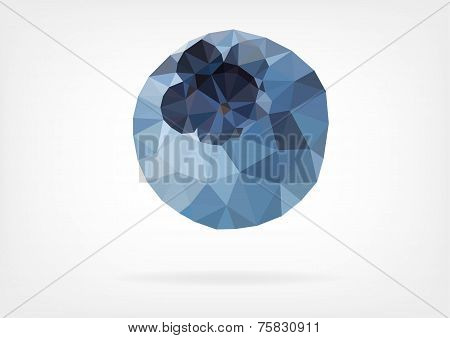 Low Poly Blueberry