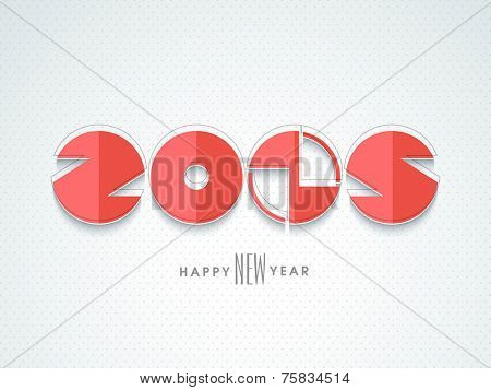 Stylish numeral text 2015 for Happy New Year celebrations on blue background.