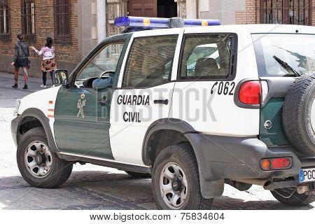 Toledo - Police car patrols