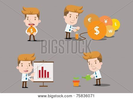 Vector Businessman series - finance set