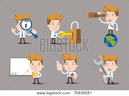 Vector Businessman series - work set