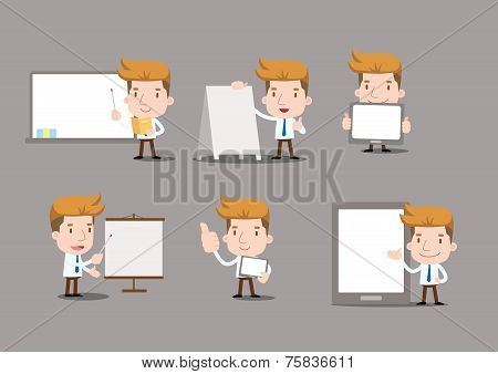 Vector Businessman series - blank set