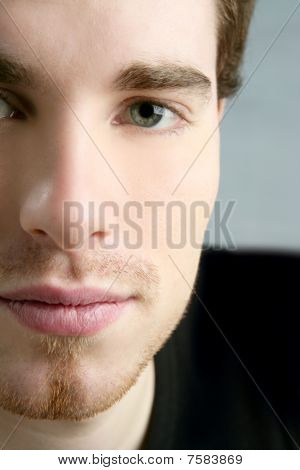 Face To Camera Young Handsome Man Portrait