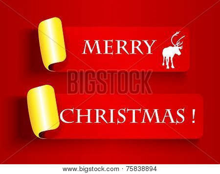 Peeling Label-merry Christmas