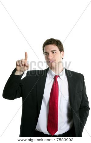Businessman Touch Finger Copy Space Pad