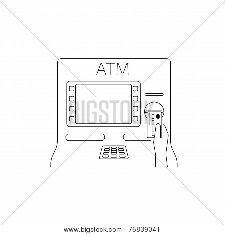 Payment by credit card via atm