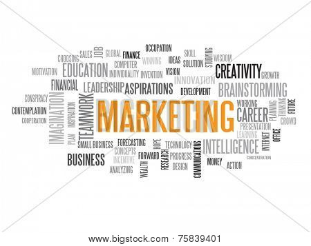 Marketing strategy in 2015 concept word cloud