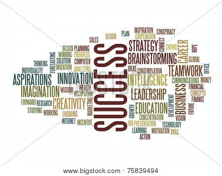 Success  in business concept word cloud