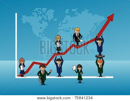 Finance Bussines Team Growth Concept Graph