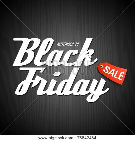 Black Friday Sale poster element. Vector.