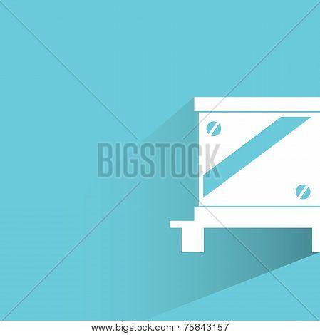 cargo box vector