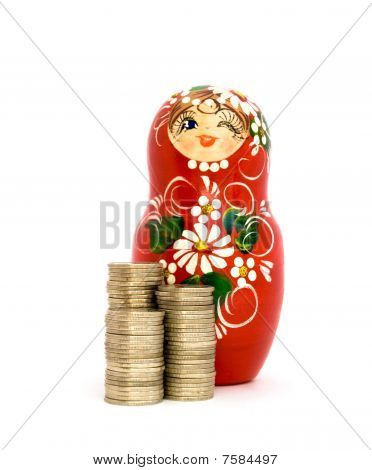 Russian Doll and Piles of Coins