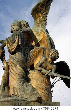 Il Pensiero By Giulio Monteverde, On The Vittoriano In Rome