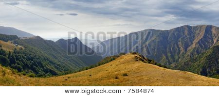 Balkan mountain range panorama