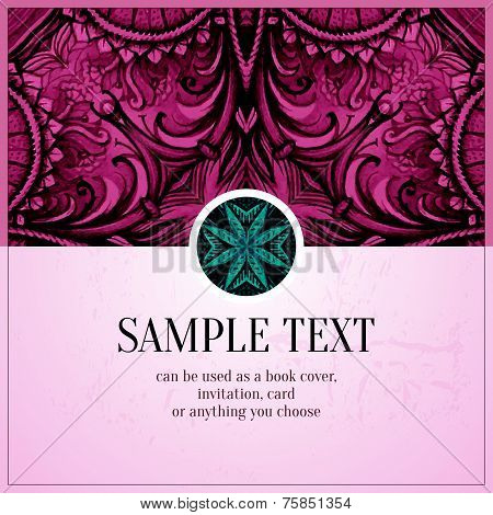 Hand drawn vector abstract background. Decorative retro banner.