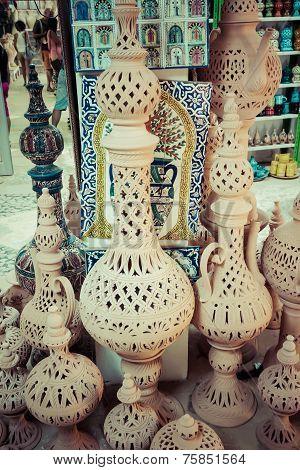 Earthenware In The Market, Djerba, Tunisia