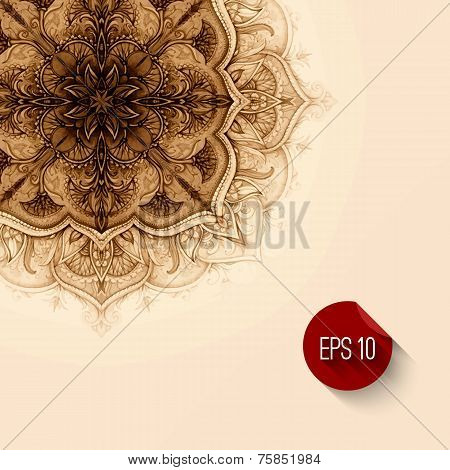 Vector background. Hand drawn abstract background. Decorative re