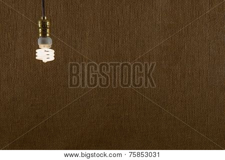 Hanging Cfl Bulb Background