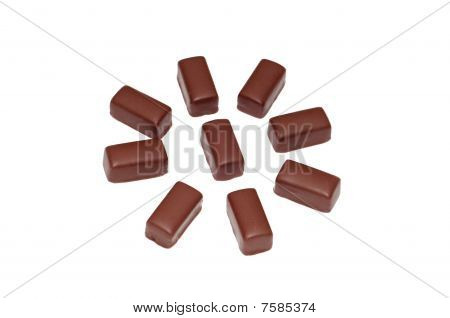 Tasty chocolate candies