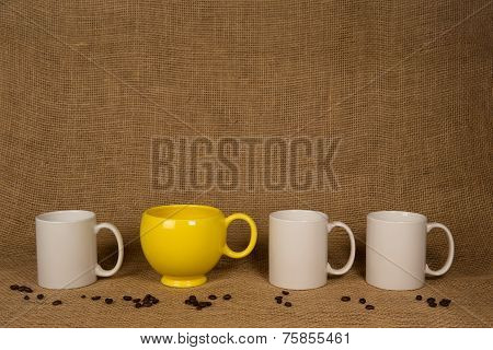 Coffee Mug Background - Unique Mug And Beans
