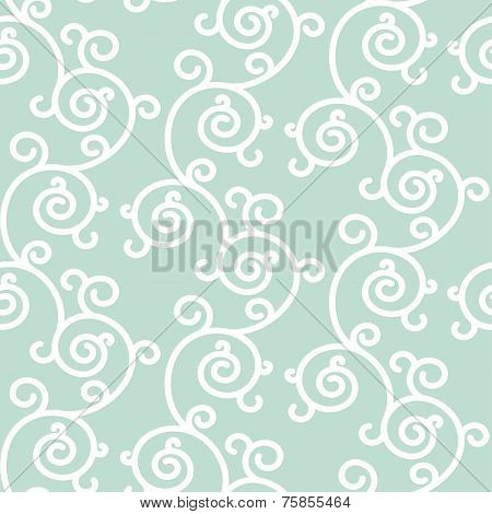 Abstract seamless floral background. Vector backdrop