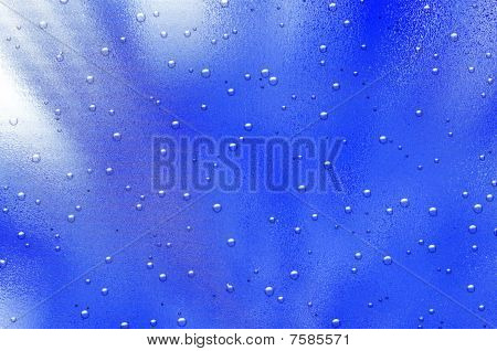 Drops on glass surface