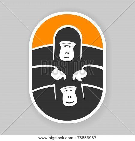 Symbol primate gorilla